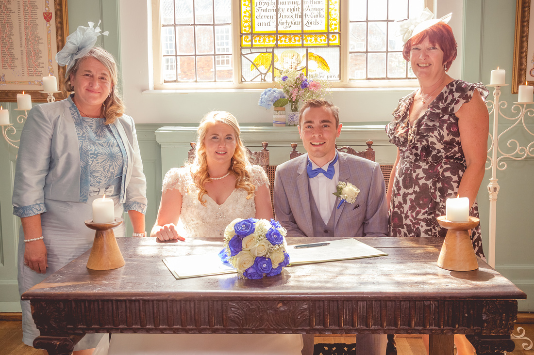 Rachel and Simon's wedding at Merchant Taylors Hall, York
