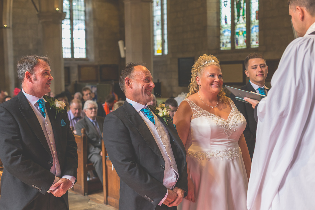 Lisa & Neil's Wedding at St Oswald's Guiseley, then Hollins Hall Baildon.